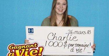 Чарли - победительница лотереи