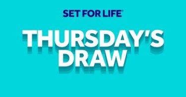 set for life thursday`s draw