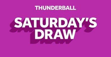 thunderball saturday`s draw